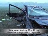 Rantigny : Spectaculaire sortie de route sur la RD 1016