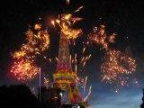 Feu d'artifice Tour Eiffel le 14 juillet 2009 120 ans Part 7
