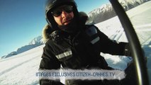 Michaël Youn chute en moto neige à l'Alpe d'Huez