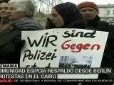 Protesta en Alemania en solidaridad con el pueblo egipcio