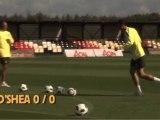 New Manchester United Crossbar Challenge December 2010