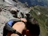Dean Potter free Basejumps off The Eiger