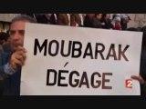 Le peuple égyptien affronte Moubarak