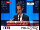 Télézapping : Sarkozy à Davos, de l'affichage ?