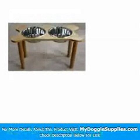 2 Bowl Bone Shaped Pet Diner Size  X-Large  Finish  Medium