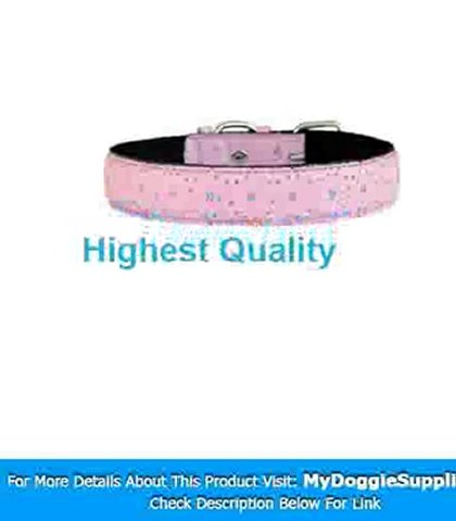 20 quot  Pink Bling Bling Star leather dog collar – My Dog