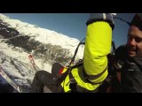 Vol biplace parapente hiver paragliding tandem flight winter