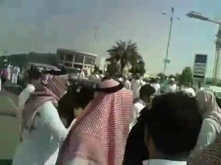 RARE: Protest in Jeddah, Saudi arabia against govt 2011