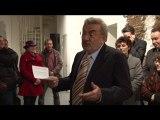 Les voeux du maire d'Angers, au musée Jean-Lurçat