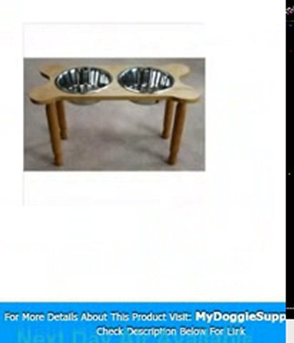 2 Bowl Bone Shaped Pet Diner Size  Medium  Finish  Medium