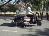 Electric powered 3 wheeled, 3 Seater scooter