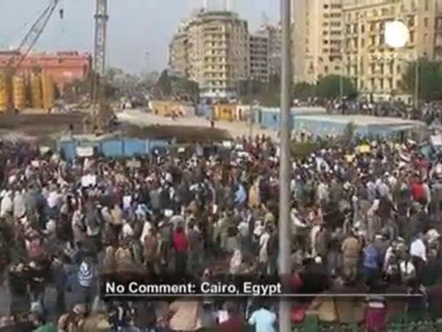 Un million d'Egyptiens dans les rues du Caire - no comment