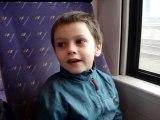 Arcachon - Bibou dans le train