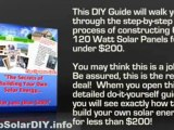 SOLAR PANELS DIY - BUILD YOUR OWN SOLAR PANELS - HOW TO