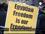 Support for Egypt protestors in New York City - no comment