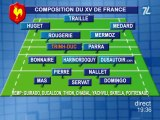 XV de France - Ecosse: la composition