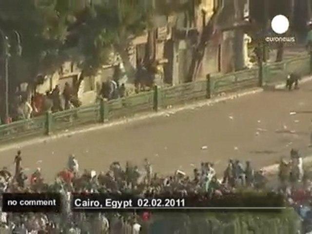 Violents affrontements place Tahrir au Caire - no comment