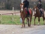 rentré a cheval jusqu'au club !