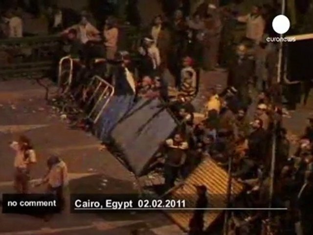 Cairo engulfed in chaos - no comment