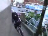 Downhill MTB bike race in Brazilian slum, Red Bull Desafio no Morro