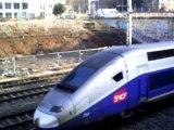 trains ter et  trains TGV et trains fret à Lyon le  8/02/11