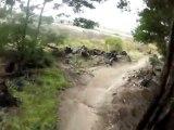 Canberra Australia-Stromlo - Kangaroos on track MTB Singletrack Helmet Cam  @ 3 Mins and 31 seconds