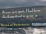 Kiter vs Bear: Snowkiting near Yellowstone