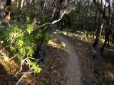 Australia NSW South Coast - MTB Singletrack Helmet Cam - Tathra Poo Pond Singletrack