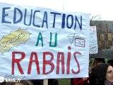 Manifestation professeurs colleges JJ Rousseur Argenteuil