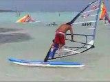 Windsurfing classic freestyle practice
