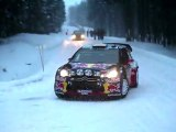Citroen DS3 WRC racing at the Swedish rally