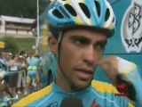 Versus Interviews Alberto Contador before Stage 8 of the 2010 Tour De France