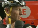 Versus interviews Lance Armstrong before Stage 8 of the 2010 Tour De France