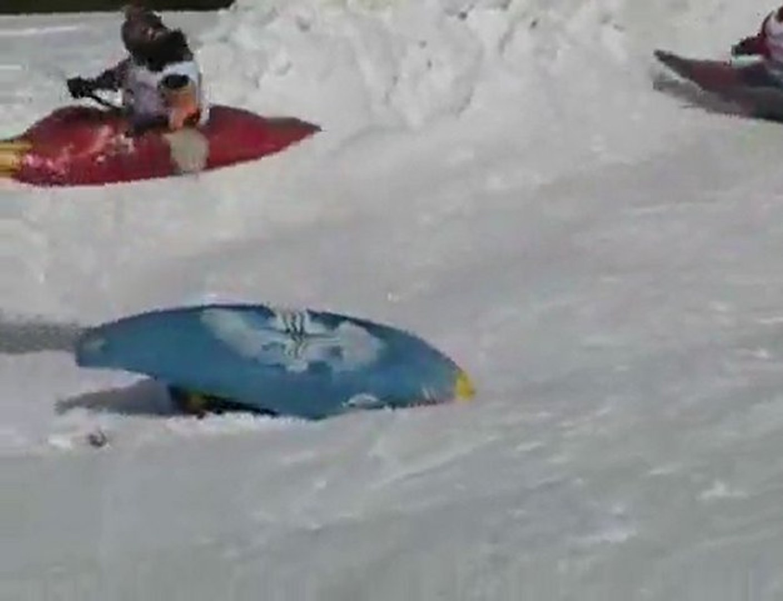 Snowkayak Race in Austria