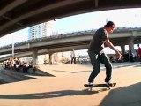 Trevor Houlihan pro skateboarder killing it at the park...