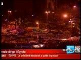 EGYPTE L'annonce de la démission de Moubarak et réactions