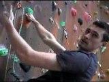 Indoor Rock Climbing Techniques : How to Clip when Indoor Rock Climbing