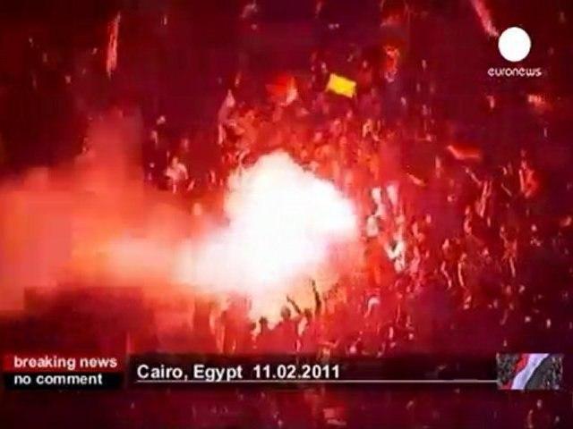 Egyptians celebrate Mubarak's resignation - no comment