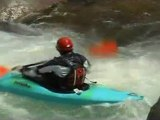 Mostly upside down whitewater kayaking
