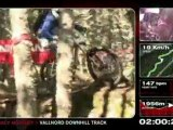 Extreme Downhill Mountain biking with Tracy Moseley on the World Cup course, Vallnord, Andorra