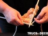 Tricoter des maille  l'endroit en tricot par TrucsetDeco.com