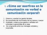 Comunicacion Asertiva - Comunicación no verbal