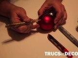 Décoration de boule de noël en glitter par TrucsetDeco.com