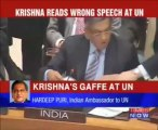 Un ministre indien se trompe de discours à l'Onu