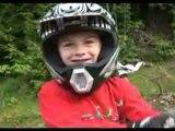 Mountain bike dirt jumping whaleback