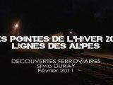 73. LES POINTES DE L'HIVER 2011 LIGNES DES ALPES