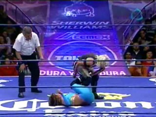 Marcela vs Amapola (c) [CMLL WOMEN] (now with sound!)