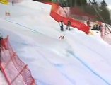 Yannick Bertrand takes a slalom gate to the groin - OUCH!