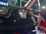 Blake Griffin bangs his head on the backboard