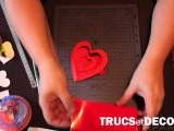 Coeur en pop up en kirigami par TrucsetDeco.com